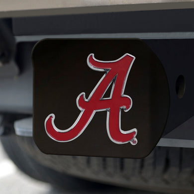Alabama Crimson Tide Color Emblem On Black Hitch