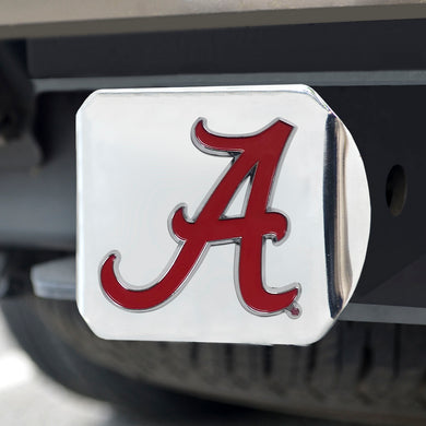 Alabama Crimson Tide Color Emblem On Chrome Hitch
