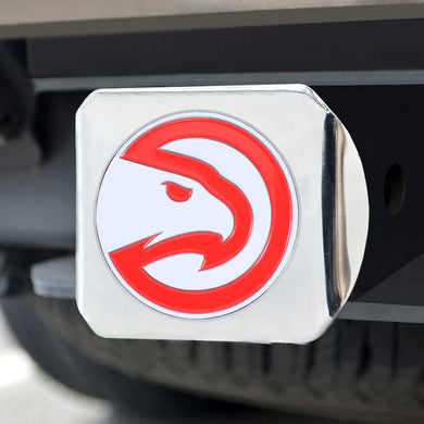 Atlanta Hawks Color Chrome Hitch Cover