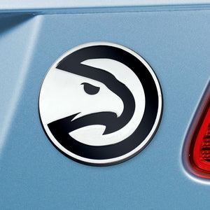 Atlanta Hawks Chrome Auto Emblem