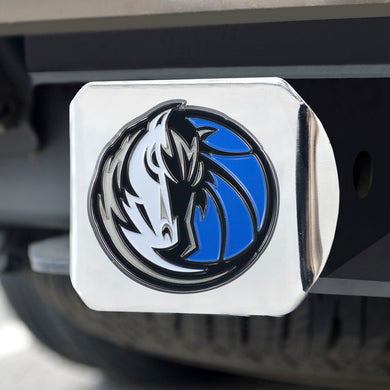 Dallas Mavericks Color Chrome Hitch Cover