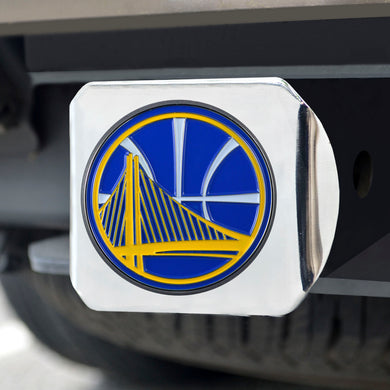 Golden State Warriors Color Chrome Hitch Cover