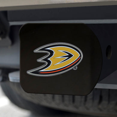 Anaheim Ducks Color Emblem On Black Hitch Cover