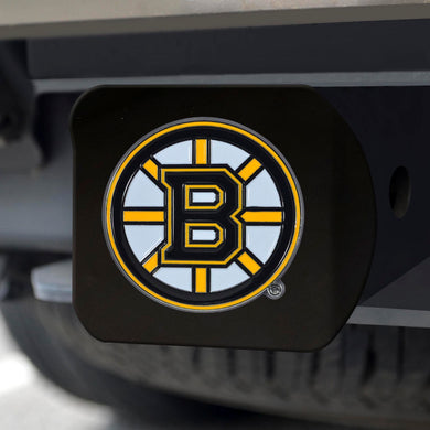 Boston Bruins Color Emblem On Black Hitch Cover