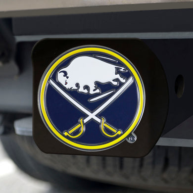 Buffalo Sabres Color Emblem On Black Hitch Cover