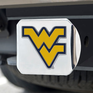 West Virginia Mountaineers Color Emblem On Chrome Hitch
