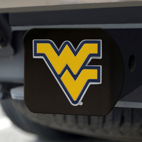 West Virginia Mountaineers Color Emblem On Black Hitch