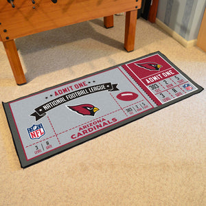 "Arizona Cardinals Football Ticket Runner - 30""x72"""
