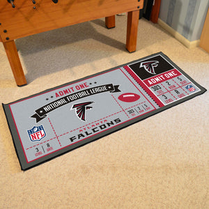 "Atlanta Falcons Football Ticket Runner - 30""x72"""