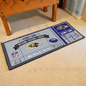 "Baltimore Ravens Football Ticket Runner - 30""x72"""