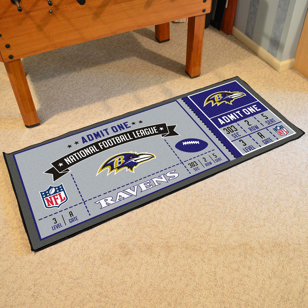Baltimore Ravens Football Ticket Runner - 30