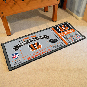 "Cincinnati Bengals Football Ticket Runner - 30""x72"""