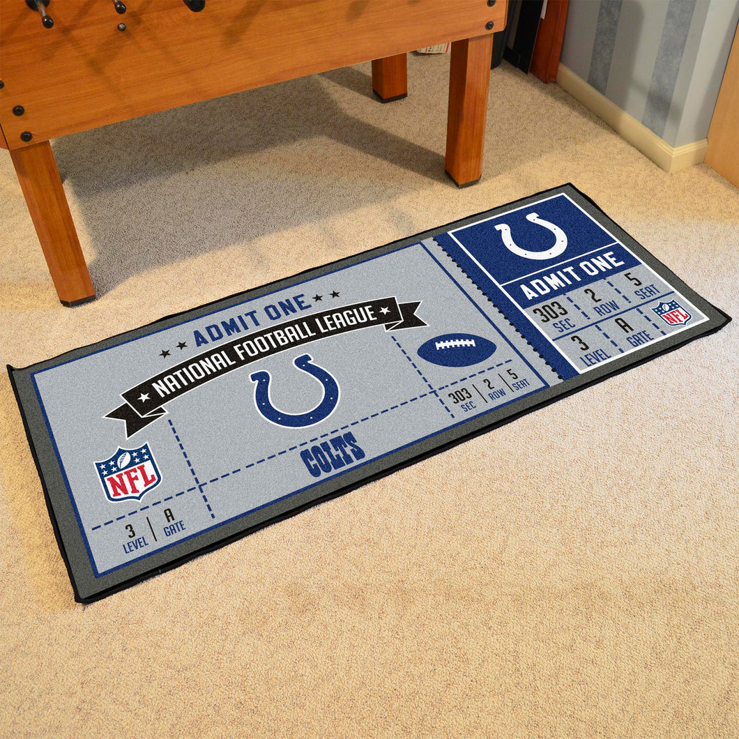 Indianapolis Colts Football Ticket Runner - 30