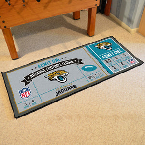 "Jacksonville Jaguars Football Ticket Runner - 30""x72"""