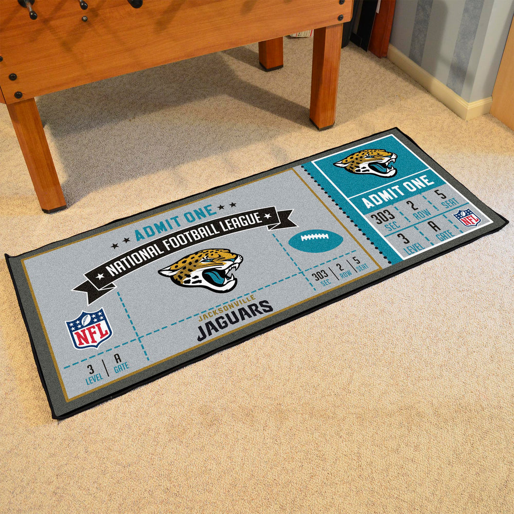 Jacksonville Jaguars Football Ticket Runner - 30