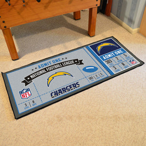 "Los Angeles Chargers Football Ticket  Runner - 30""x72"""