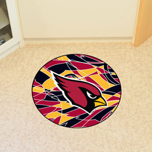 Arizona Cardinals Quick Snap Round Rug - 27""