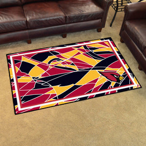 Arizona Cardinals Quick Snap Ultra Plush Area Rugs -  4'x6'