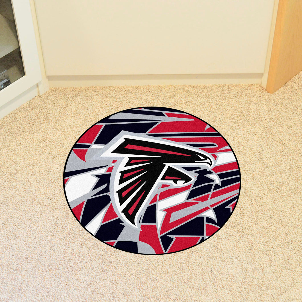 Atlanta Falcons Quick Snap Round Rug - 27
