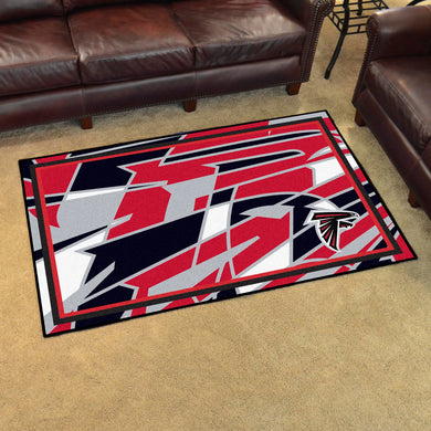 Atlanta Falcons Quick Snap Ultra Plush Area Rugs -  4'x6'