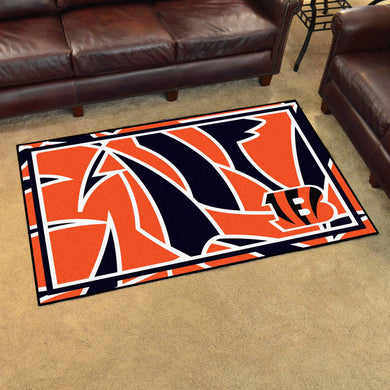 Cincinnati Bengals Quick Snap Ultra Plush Area Rugs -  4'x6'