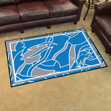 Detroit Lions Quick Snap Ultra Plush Area Rugs -  4'x6'
