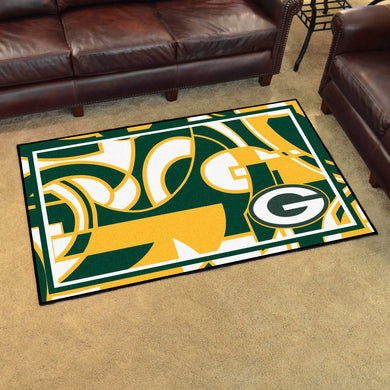 Green Bay Packers Quick Snap Ultra Plush Area Rugs -  4'x6'