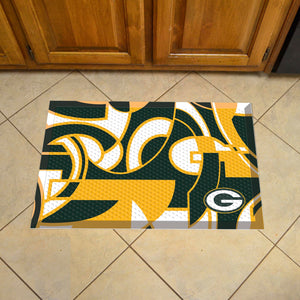 "Green Bay Packers Scraper Logo Doormat - 19""x30"""