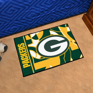 "Green Bay Packers Quick Snap Starter Rug - 19""x30"""