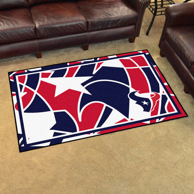 Houston Texans Quick Snap Ultra Plush Area Rugs -  4'x6'