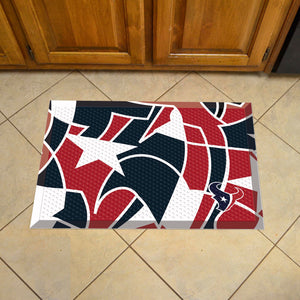 "Houston Texans Scraper Logo Doormat - 19""x30"""