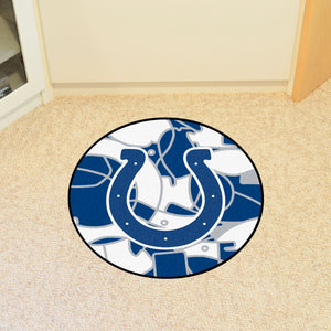 Indianapolis Colts Quick Snap Round Rug - 27""