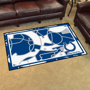 Indianapolis Colts Quick Snap Ultra Plush Area Rugs -  4'x6'