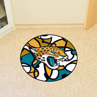 Jacksonville Jaguars Quick Snap Round Rug - 27