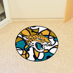 Jacksonville Jaguars Quick Snap Round Rug - 27""