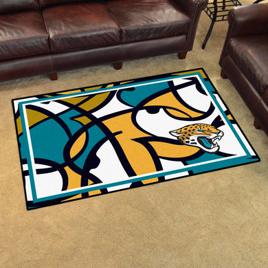 Jacksonville Jaguars Quick Snap Ultra Plush Area Rugs -  4'x6'