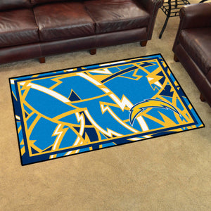 Los Angeles Chargers Quick Snap Ultra Plush Area Rugs -  4'x6'
