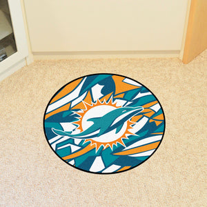 Miami Dolphins Quick Snap Round Rug - 27""