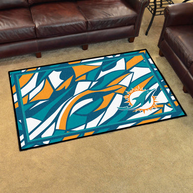 Miami Dolphins Quick Snap Ultra Plush Area Rugs -  4'x6'