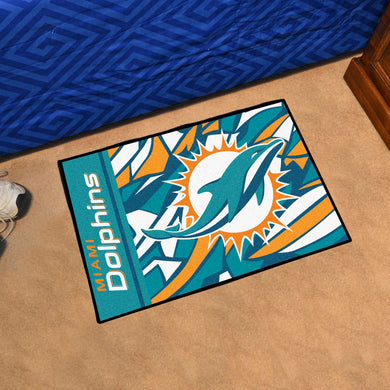 Miami Dolphins Quick Snap Starter Rug - 19