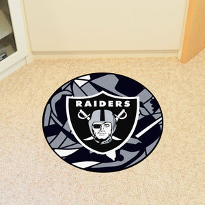 Oakland Raiders Quick Snap Round Rug - 27""