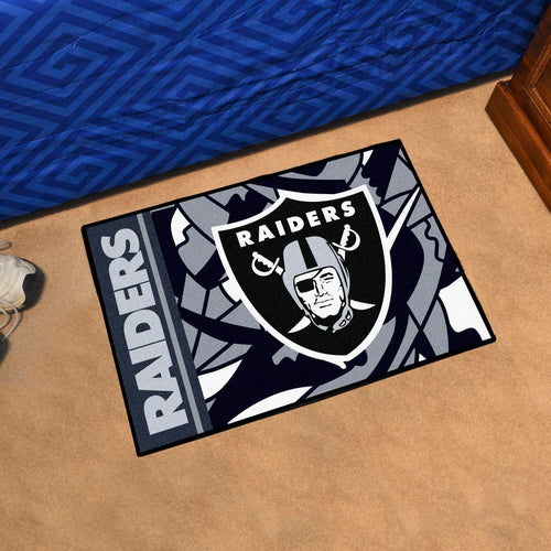 Oakland Raiders Quick Snap Starter Rug - 19