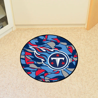 Tennessee Titans Quick Snap Round Rug - 27