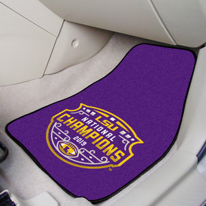 LSU Tigers 2019 CFP National Champions 2-pc Carpet Car Mat Set