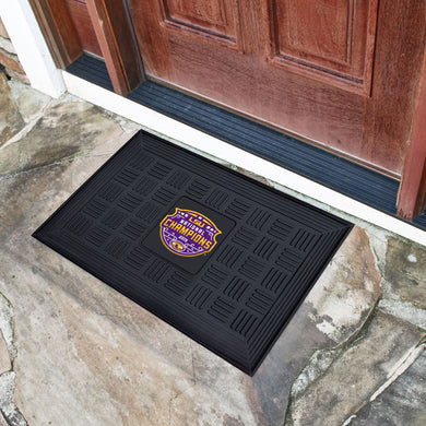 LSU Tigers 2019 CFP National Champions Medallion Door Mat