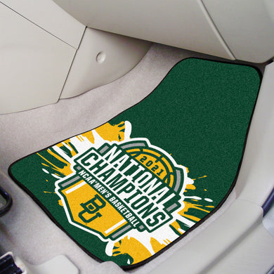 Baylor Bears 2021 NCAA Basketball National Championship 2-pc Carpet Car Mat Set