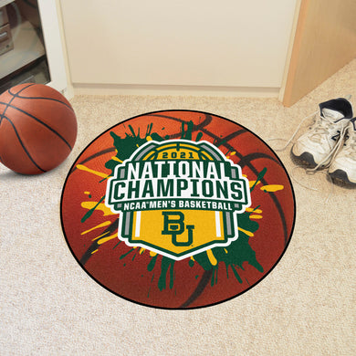Baylor Bears 2021 NCAA Basketball National Championship Basketball Mat