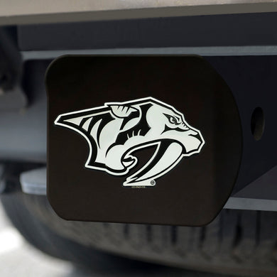 Nashville Predators Chrome Emblem On Black Hitch Cover