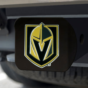 Vegas Golden Knights Color Emblem On Black Hitch Cover