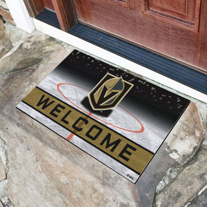 "Vegas Golden Knights Crumb Rubber Door Mat - 18""x30"""